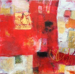 Stopping Awhile, JESSICA BROWN, Original Abstract Painting for Sale, Red Art