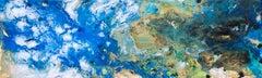 Big Blue, Daniel Tidbury, Bright Art, Blue Art, Abstract Painting Affordable Art