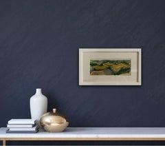 Rosie Phipps, Purple Cotswold, Original Landscape Painting, Oxfordshire Artwork