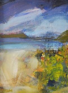Lucy Powell, Beachscape, Original Seascape Art, Impressionist Painting