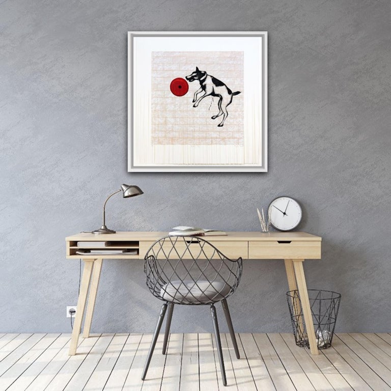 Mychael Barratt, Banksy's Dog, Street Art, Affordable Art, Celebrity Art - Gray Interior Print by Mychael Barratt