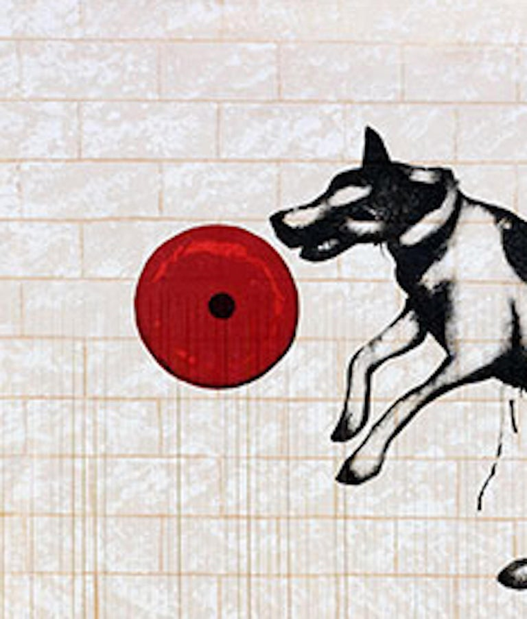 Mychael Barratt, Banksy's Dog, Street Art, Affordable Art, Celebrity Art For Sale 1