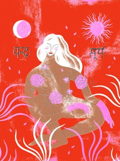 Goddess Shakti, Limited edition Silkscreen print BY AGNESE TAURINA, Affordable