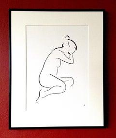 David Jones, Nude Drawing from Series 7 No.2, Figurative Art, Line Drawing