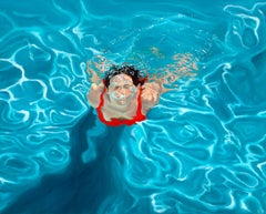 Amy Devlin, Awakening, Original Oil Painting, Underwater Art, Bright Art