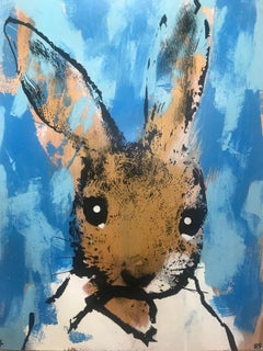 Sorry… #85 BY HARRY BUNCE, Contemporary Animal Art for Sale, Original MixedMedia