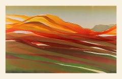 Sarah du Feu, Langdale Pikes in the Distance 2 Bright Contemporary Landscape Art