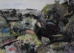Duncan MacDonald Johnson A cottage garden in Monmouthshire Original Landscape Ar