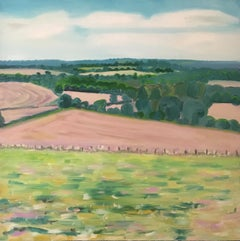 Eleanor Woolley, The view from Aynho, Affordable art online, Bright Art