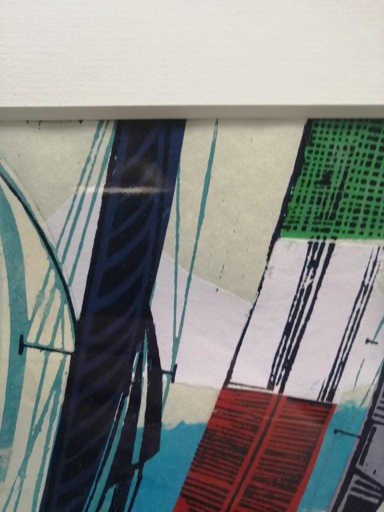 Cowes Classics by John Scott Martin, seascape, sailing, boats, linocut print For Sale 10