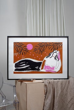 'Under the Trees' Limited Edition Silkscreen print by Agnese Taurina, affordable