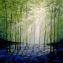 Sunlight Forest BY AMANDA HORVATH, Contemporary Landscape Painting, Original Art