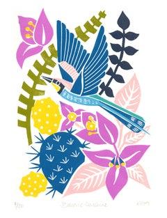 Balearic Sunshine by Kate Heiss, Bee-eater, tropical, Spain, Menorca, Bird Art
