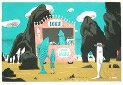 Ices for Fish, Simon Tozer, Limited edition print, Animal art, Screenprint