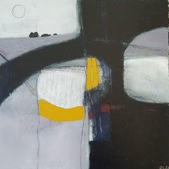Rachel Cronin, Spring Storm, Original Bright Abstract Landscape Painting