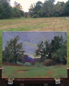 Abinger Roughs Sunset, Benedict Flanagan, Original Impressionist Painting Art