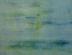 Watermark, Adrienne Byrne, Blue Art, Green Art, Original Contemporary Painting