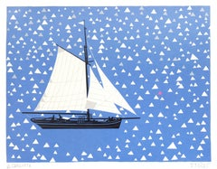 Carlotta, Simon Tozer, Boat Art, Bright Art, Art for Sailors, Seascape Prints
