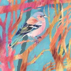 Chaffinch, Carolyn Carter, Bird Art, Animal Painting, Bright Art, Spring Art