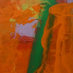 Julia Craig, Flamma II, Original Abstract Art, Bright Art, Orange Painting