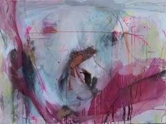 Gubbio, Judith Brenner, Original Abstract Painting, Bright Expressionist Artwork