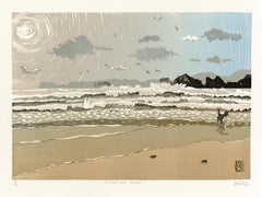 Ian Phillips, Sunshine and Showers, Limited Edition Seascape Print, Seaside Art