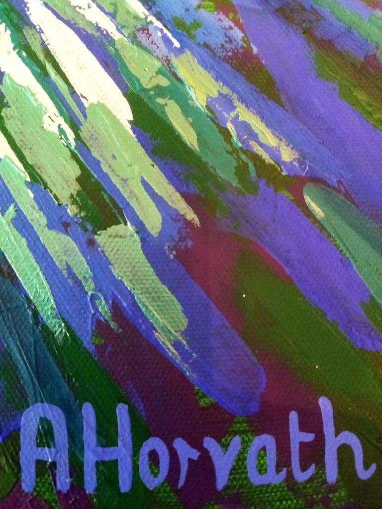 Amanda Horvath, Lantern Blue, Original Art Online, Affordable Art For Sale 2
