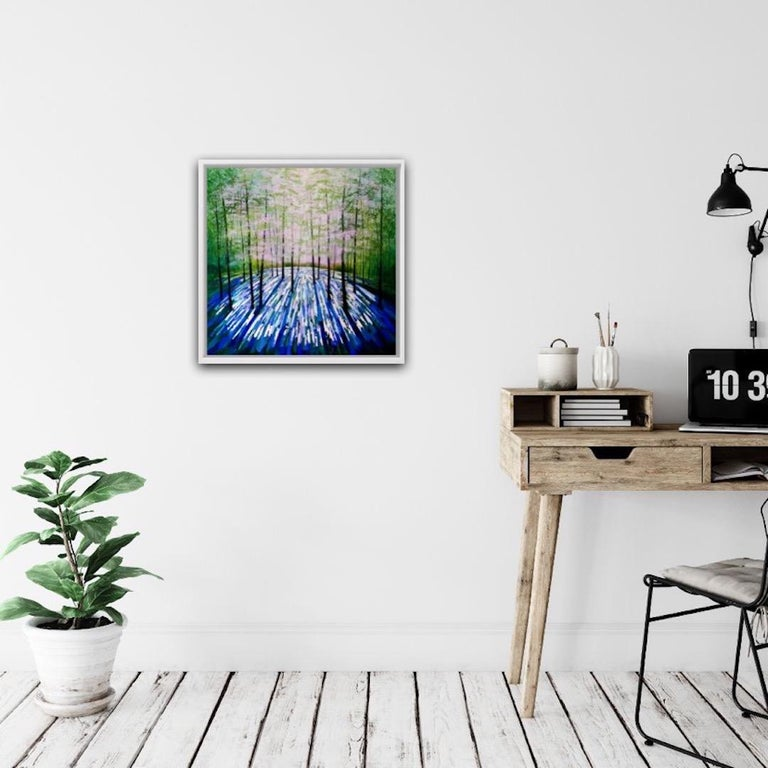 Amanda Horvath, Lantern Blue, Original Art Online, Affordable Art - Abstract Painting by Amanda Horvath