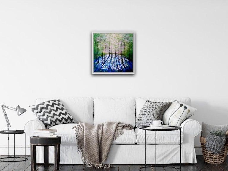 Amanda Horvath, Lantern Blue, Original Art Online, Affordable Art For Sale 4