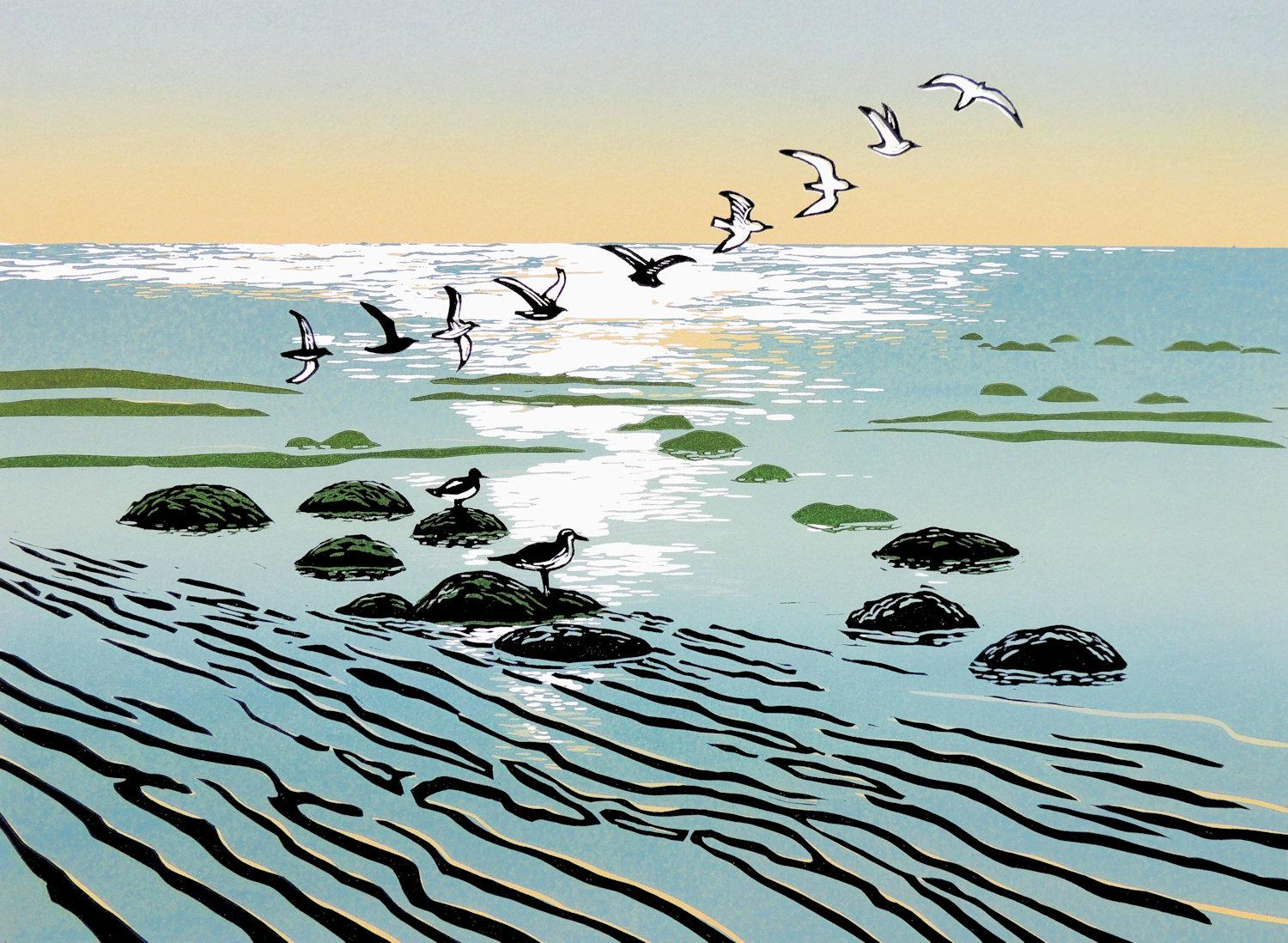 Rob Barnes, Turn of the Tide, Limited Edition Print, Affordable Seascape Art