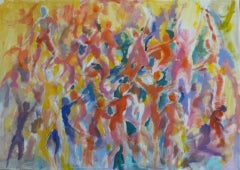 Joanna Commings, Dance Movement 1, Original Abstract Figure Painting, Art Online
