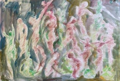 Joanna Commings, Dance Movement 2, Original Abstract Figure Painting,