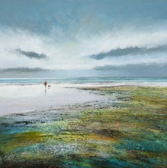 Michael Sanders, A Bracing Walk - Large Canvas Print, Seascape Art, Art Online