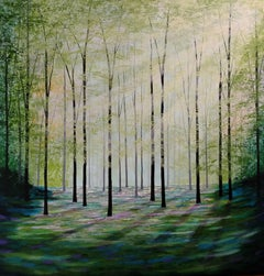 Amanda Horvath, Enchanted Place, Original  Painting, Landscape Art, Art Online