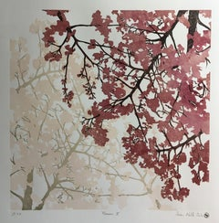 Susan Noble, Hanami II, Affordable Art, Cherry Tree Art, Limited Edition Print