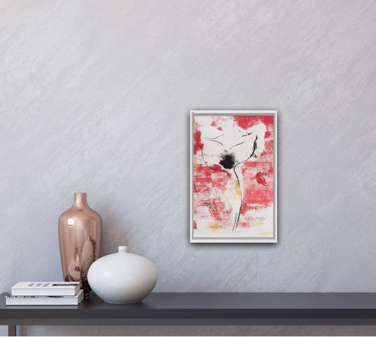 Mary Knowland, Poppy 20, Original Monoprint on Paper, Contemporary Art For Sale 1