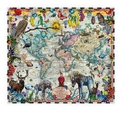 Kristjana Williams, Eminent Navigators' World Chart Map, Limited Edition Print