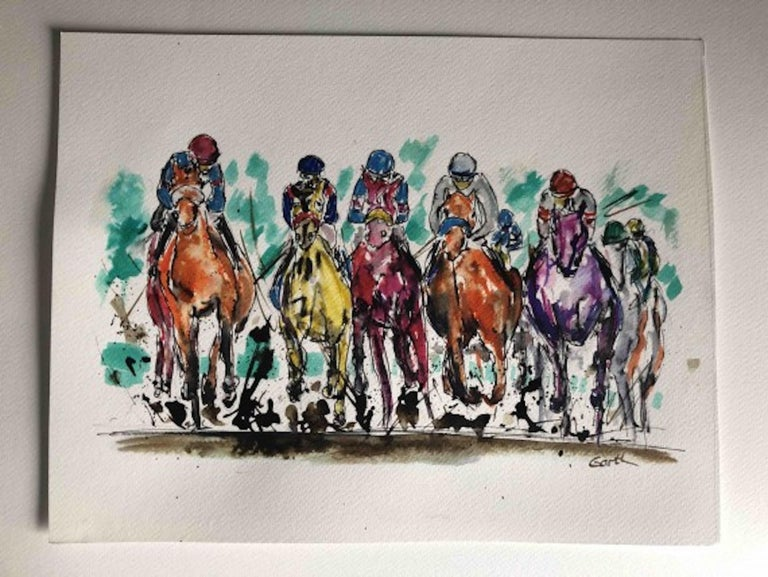 Garth Bayley, Thunder, Contemporary Art, Horse Racing Art, Affordable Art For Sale 3