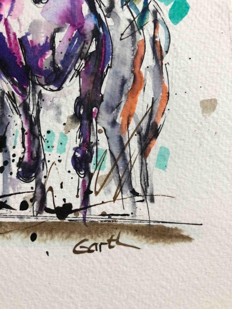 Garth Bayley, Thunder, Contemporary Art, Horse Racing Art, Affordable Art For Sale 1