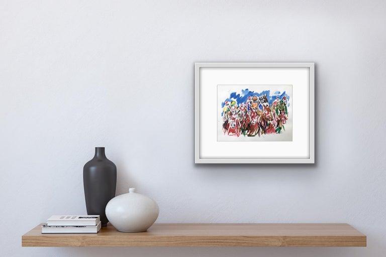 Garth Bayley, Heart of the Race, Horse Racing Art, Contemporary Art, Art Online For Sale 7