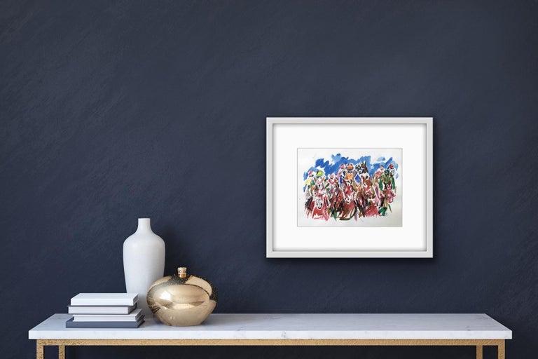 Garth Bayley, Heart of the Race, Horse Racing Art, Contemporary Art, Art Online For Sale 6