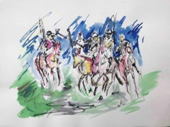 Garth Bayley, Polo Players, Contemporary Art, Polo Art, Affordable Art