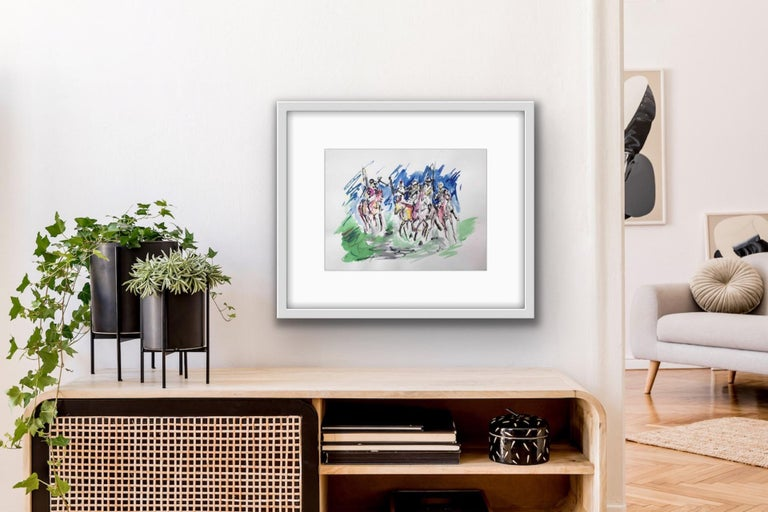 Garth Bayley, Polo Players, Contemporary Art, Polo Art, Affordable Art For Sale 5