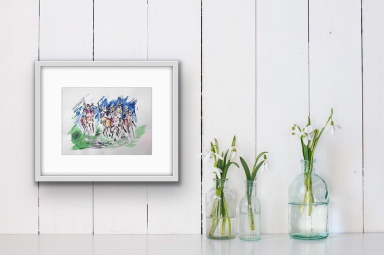Garth Bayley, Polo Players, Contemporary Art, Polo Art, Affordable Art For Sale 7