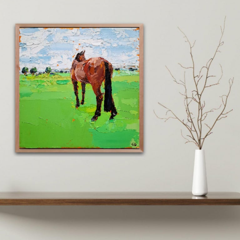 Georgie Dowling, Gazing Horse, Horse Painting, Original Painting, Affordable Art For Sale 6