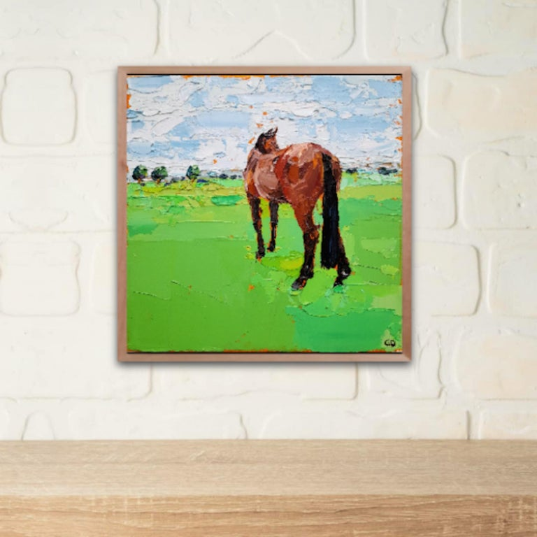 Georgie Dowling, Gazing Horse, Horse Painting, Original Painting, Affordable Art For Sale 5