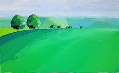 Georgie Dowling, Two Trees in the Cotswolds, Affordable Art, Landscape Painting