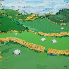 Georgie Dowling, Through the Hills, Landscape Art, Original Painting