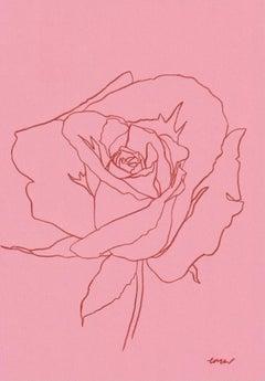 Ellen Williams, Rose VIII, Original drawing, Affordable Art, Minimalist Art