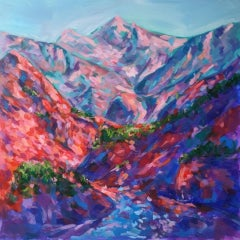 Charmaine Chaudry, Himalayan Valley, Original Landscape Painting